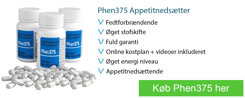 phen375 appetitnedsættende piller